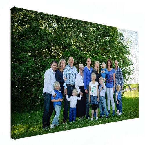 familiefoto op canvas