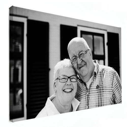 Foto Op Canvas Ouder stel