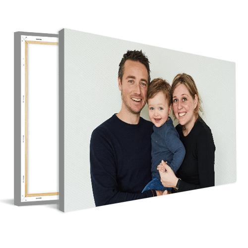 Foto op canvas gezin