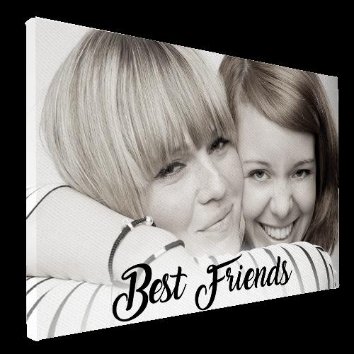 vriendinnen op canvas met tekst